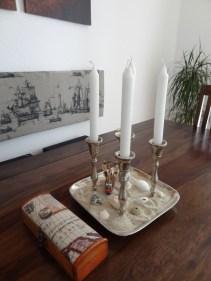 Dekoration Muscheln Kerzenleuchter