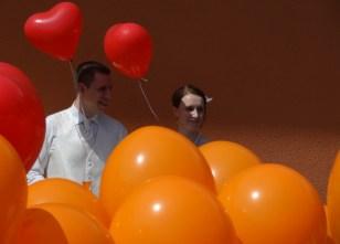 Überraschung: Luftballonstart