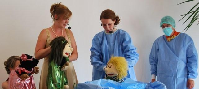 Handpuppen Rita, Lisa und Pelle