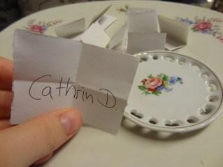 Gewonnen hat Cathrin!