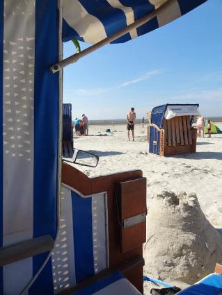 Ausblick aus dem Strandkorb.