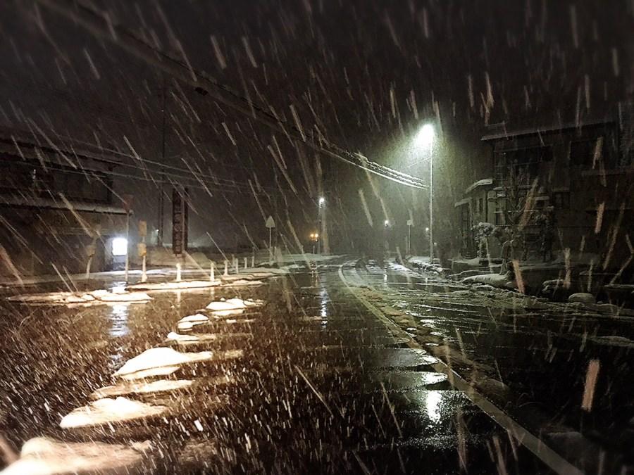 雪が降り続いています!