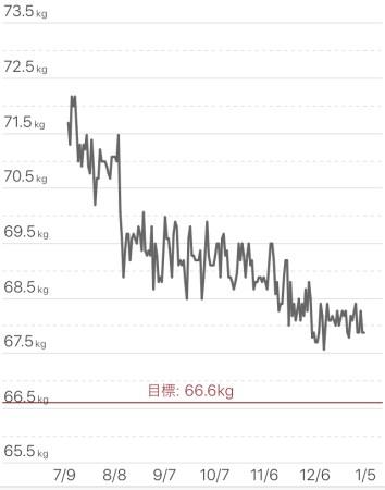 着実に体重減量、30代男性のダイエット記録