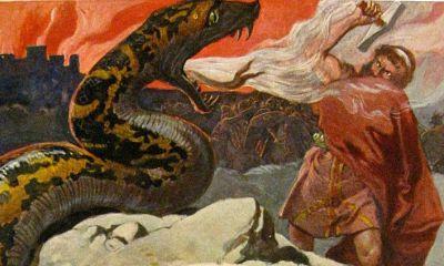 Lucha entre Thor y Jörmundgander