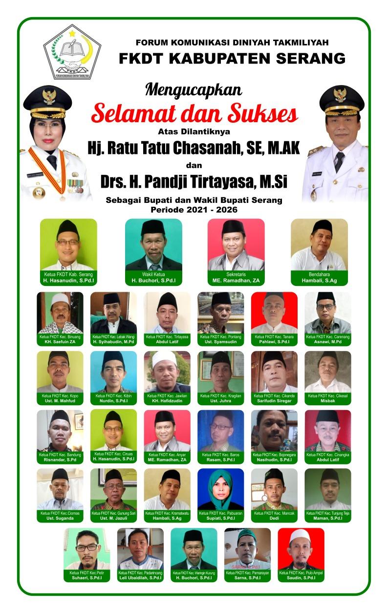 Gambar FKDT Kab. Serang Mengucapkan Selamat Atas Dilantiknya Bupati & Wakil Bupati Serang 13