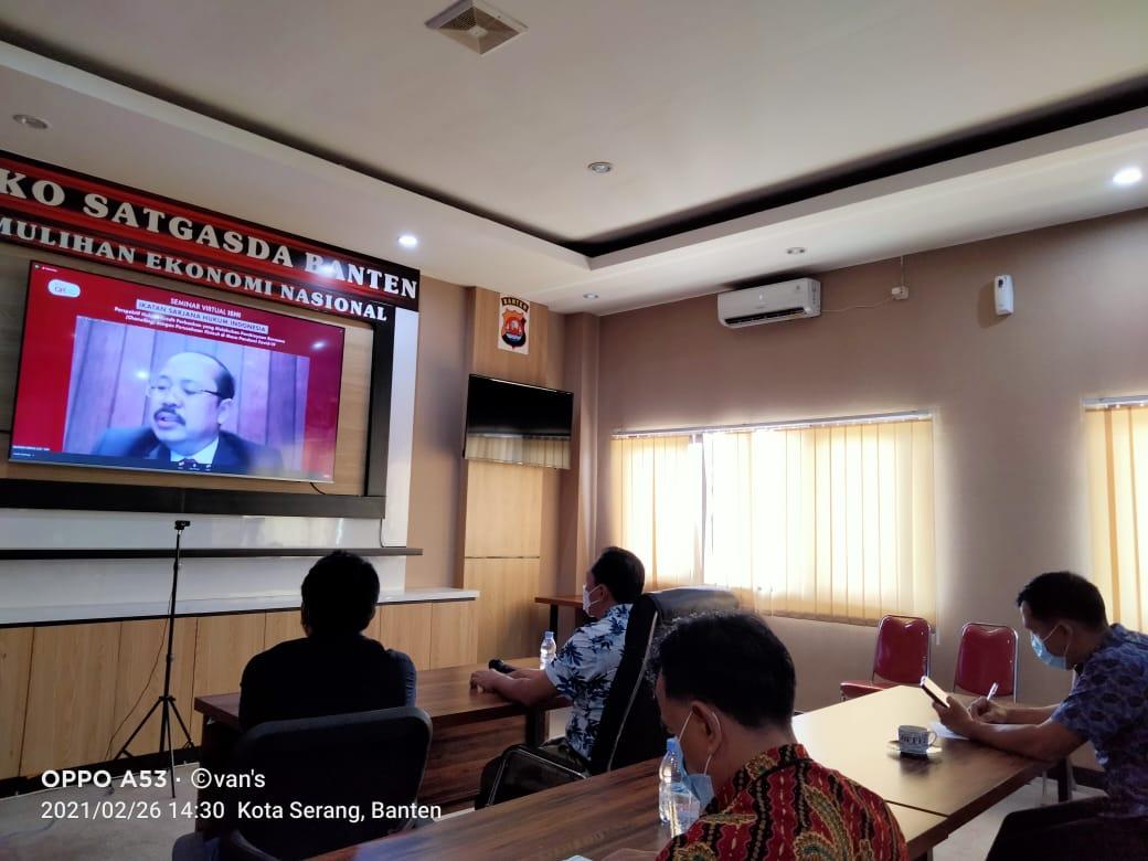 Gambar Ditkrimsus Polda Banten Apresiasi Seminar yang Dilakukan ISHI 1