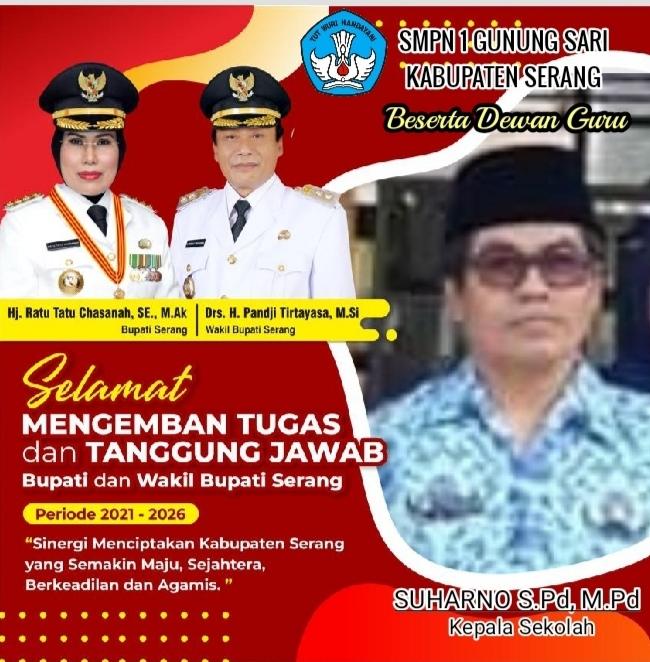 Gambar SMPN 1 Gunung Sari Kabupaten Serang Mengucapkan Selamat Atas Dilantiknya Bupati & Wakil Bupati Serang 11