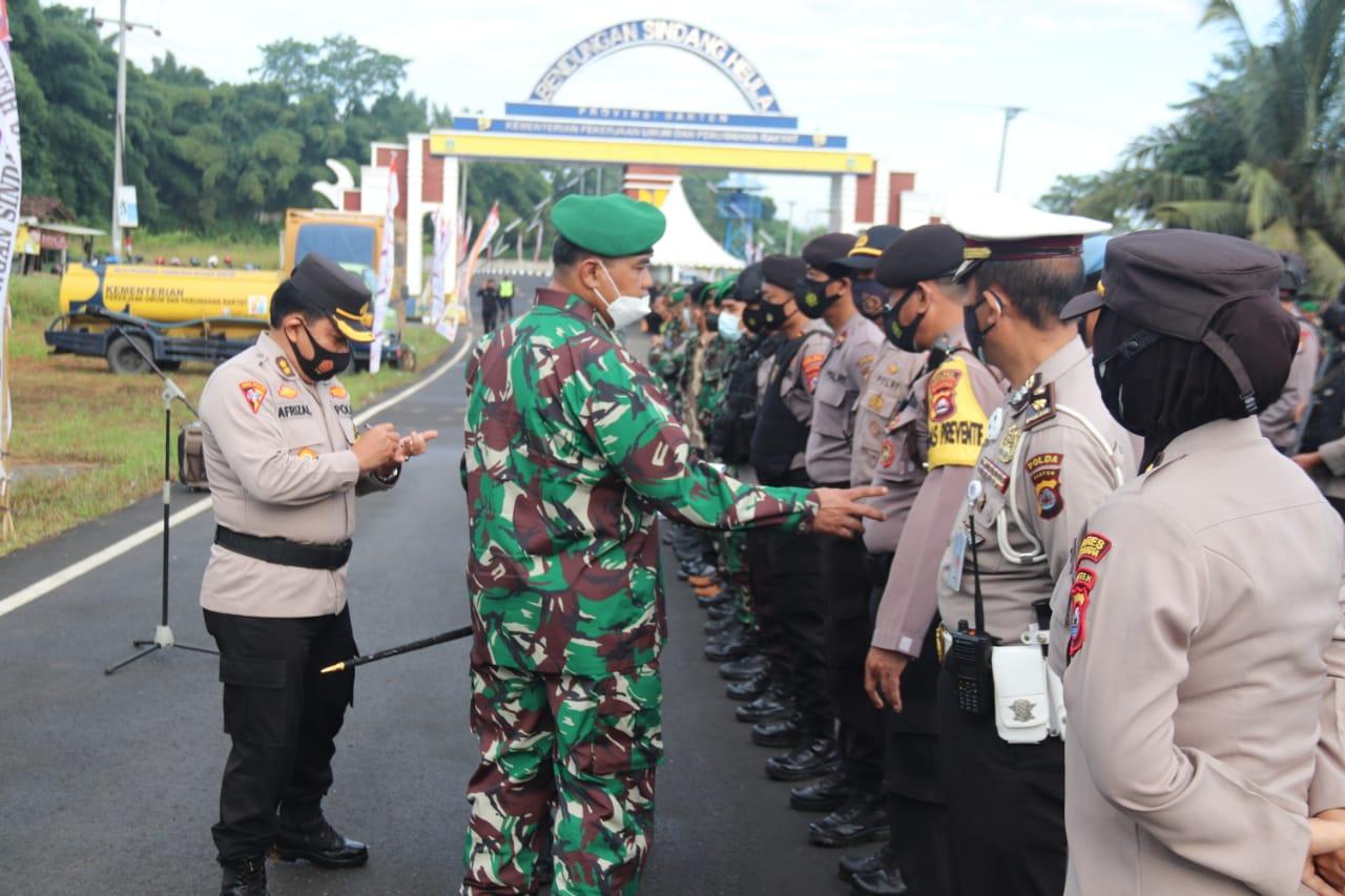 Gambar TNI-Polri Gelar Apel Pasukan Pengaman RI-1 ke Bendungan Sindangheula 1