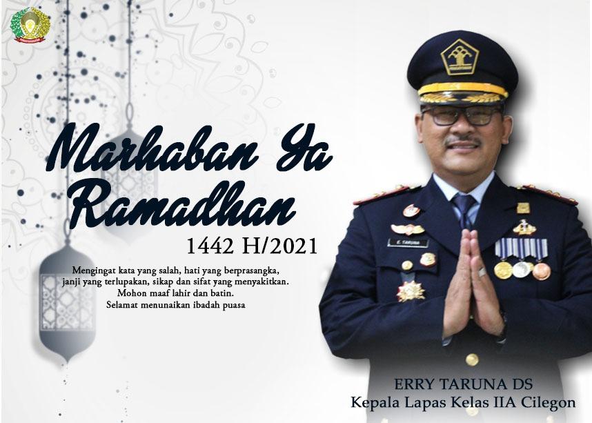 Gambar Kalapas Cilegon Mengucapkan Marhaban ya Ramadhan.. 1442 H. 17