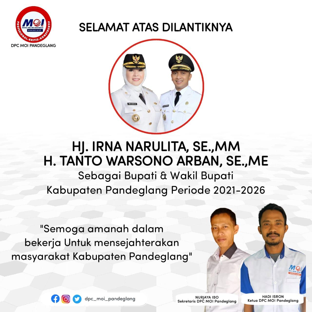 Gambar DPC MOI Pandeglang Ucapkan Selamat Atas Dilantiknya Bupati & Wakil Bupati Pandeglang 7