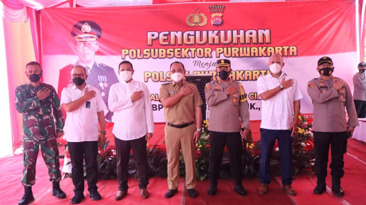 Gambar Kapolres Cilegon kukuhkan Polsubsektor Purwakarta Menjadi Polsek Purwakarta 19
