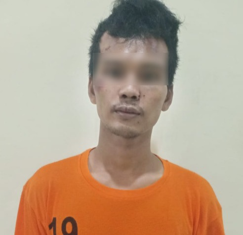 Gambar Gasak Motor Pengunjung Minimarket, Seorang Pria Dibekuk Polsek Panongan Polresta Tangerang 1
