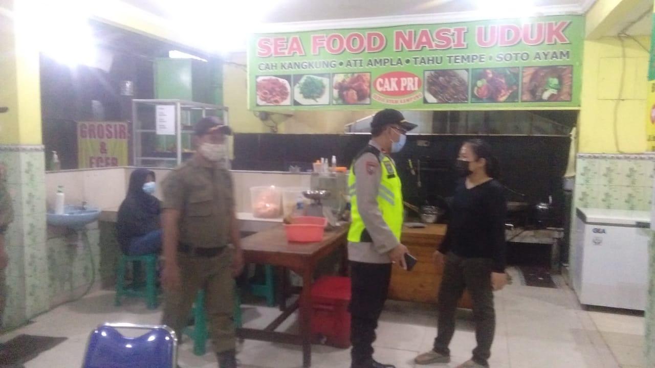 Gambar Hari Ke-4, Polsek Jatiuwung dan Satpol PP Kec Cibodas, Berikan Somasi Teguran ke PKL di Prambanan 9