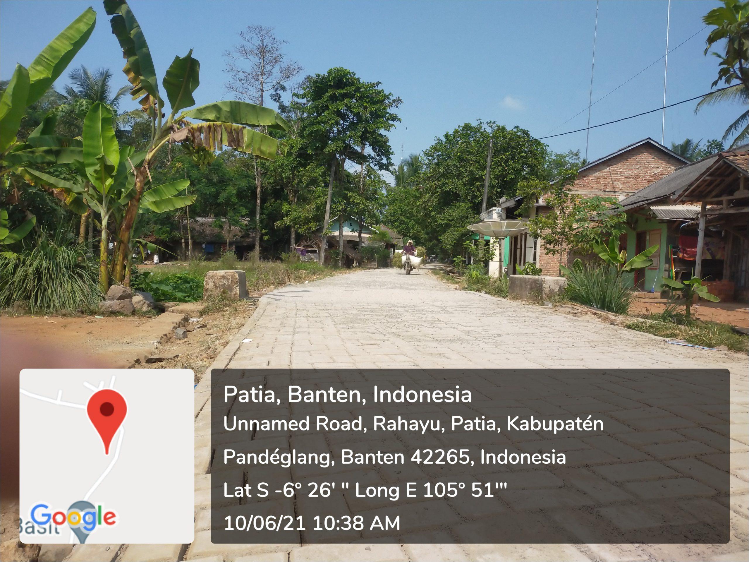 Gambar Desa Rahayu Bangun Paving Block, Warga: Kami Senang dan Sudah Terasa Manfaatnya 1