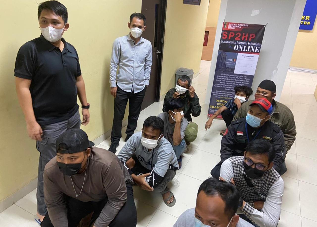 Gambar Belasan Preman di Serang Timur Diamankan Petugas Polres Serang 13