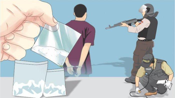 Gambar Hendak Cukur Rambut, Pria Pecandu Sabu Diringkus Polisi 11