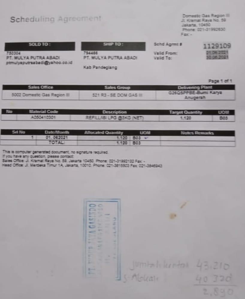 Gambar Kontrak Pangkalan Elpiji Tak Dipenuhi, Ini Alasan Pengurus PT Mulya Putra Abadi 13
