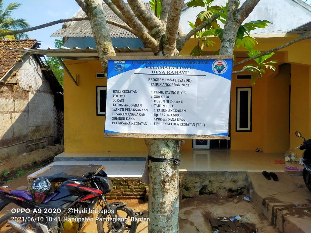 Gambar Desa Rahayu Bangun Paving Block, Warga: Kami Senang dan Sudah Terasa Manfaatnya 3