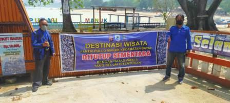Gambar Ketua DPW MOI Provinsi Banten Bersama Ketua DPC Badak Banten Bayah Pantau Penterapan PPKM Darurat 13