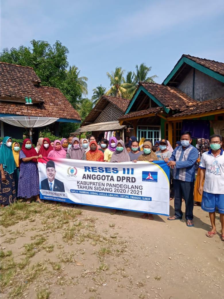 Gambar H. Rain DPRD Dapil 4 Pandeglang Gelar Reses, Berkomitmen Usulan Masyarakat Akan Dibawa Ke Rapat Paripurna 11