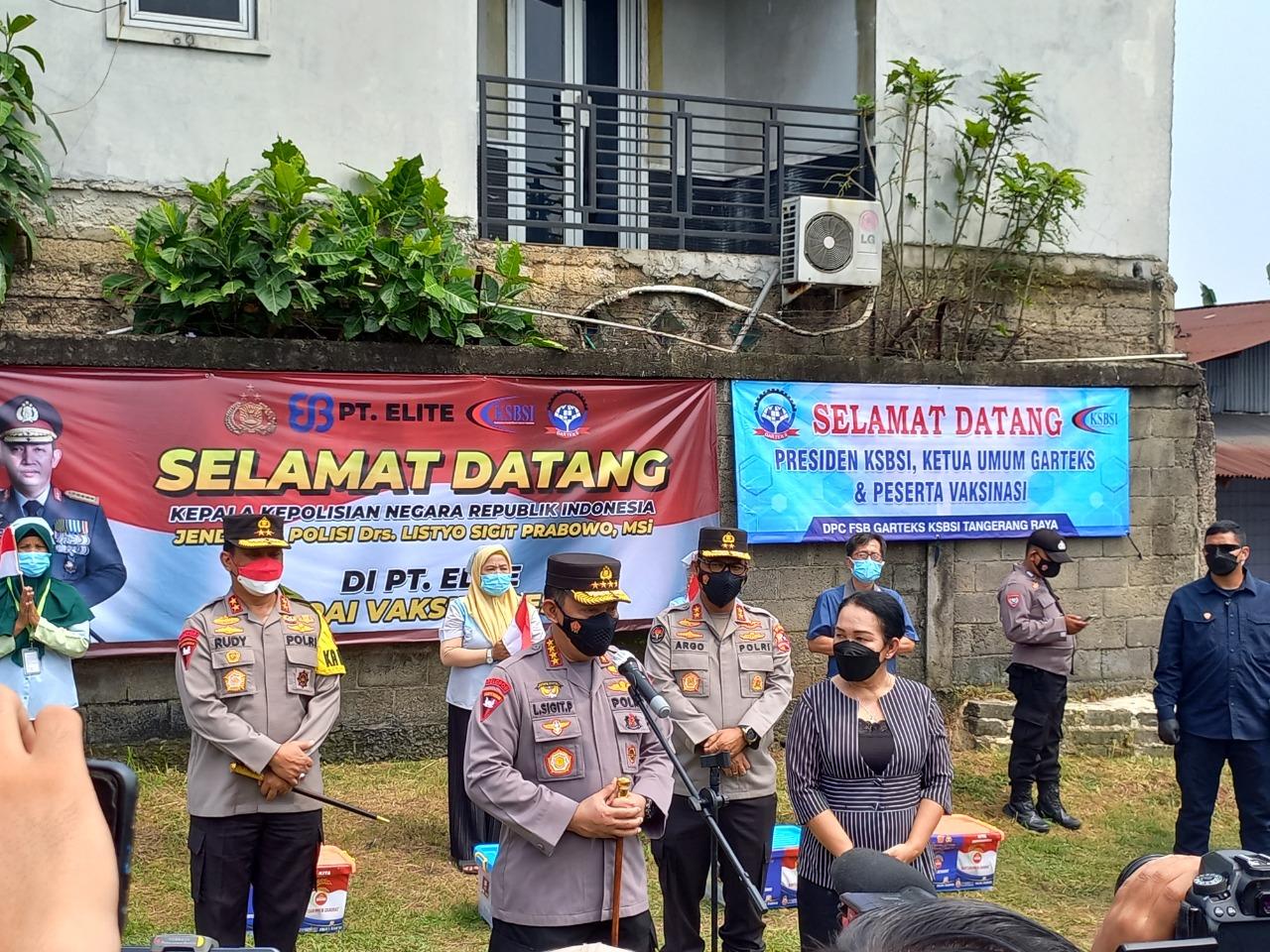 Gambar Tinjau Kegiatan Buruh di Banten, Kapolri Akan Perkuat Akselerasi Vaksinasi di Wilayah Aglomerasi 13