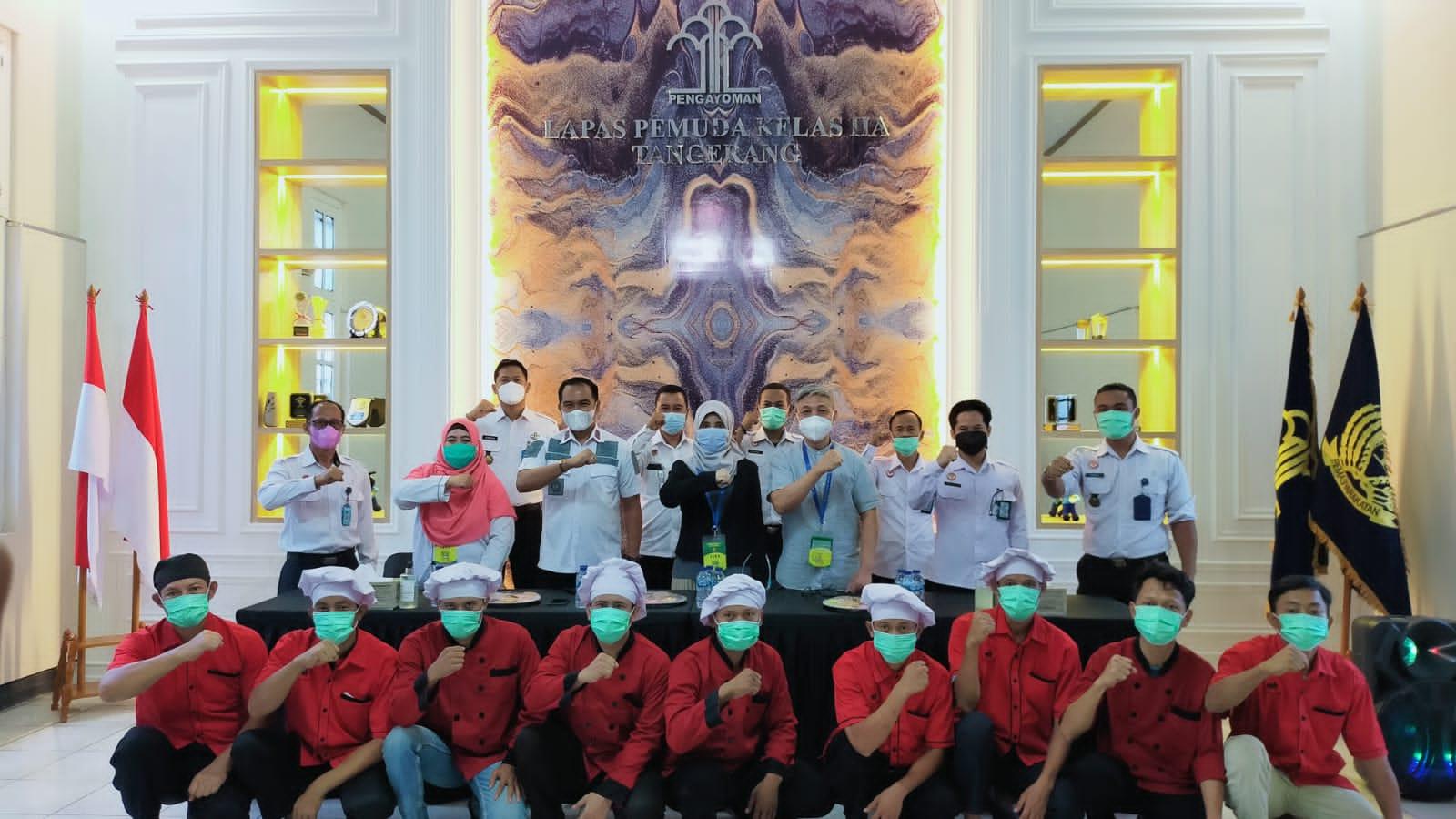 Gambar Gandeng LKP Citramas, Lapas Pemuda Tangerang Ciptakan Dapur Bersih Hygiene 17