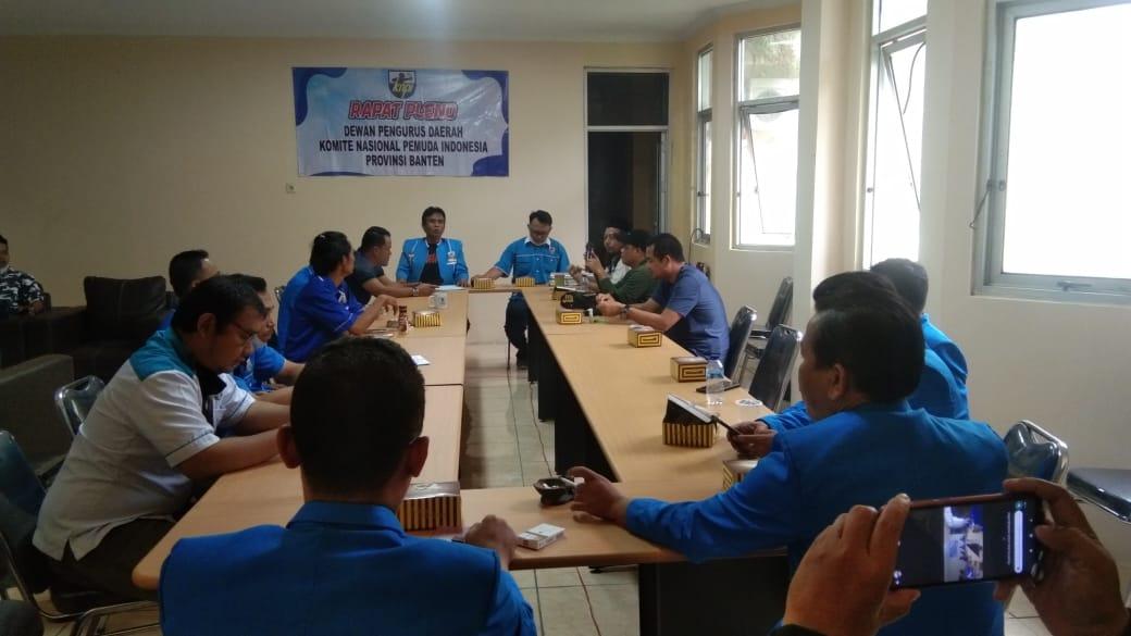 Gambar Rapat Pleno KNPI Provinsi Banten, Bentuk Pelaksana Musda hingga Reshuffle Kepengurusan 17