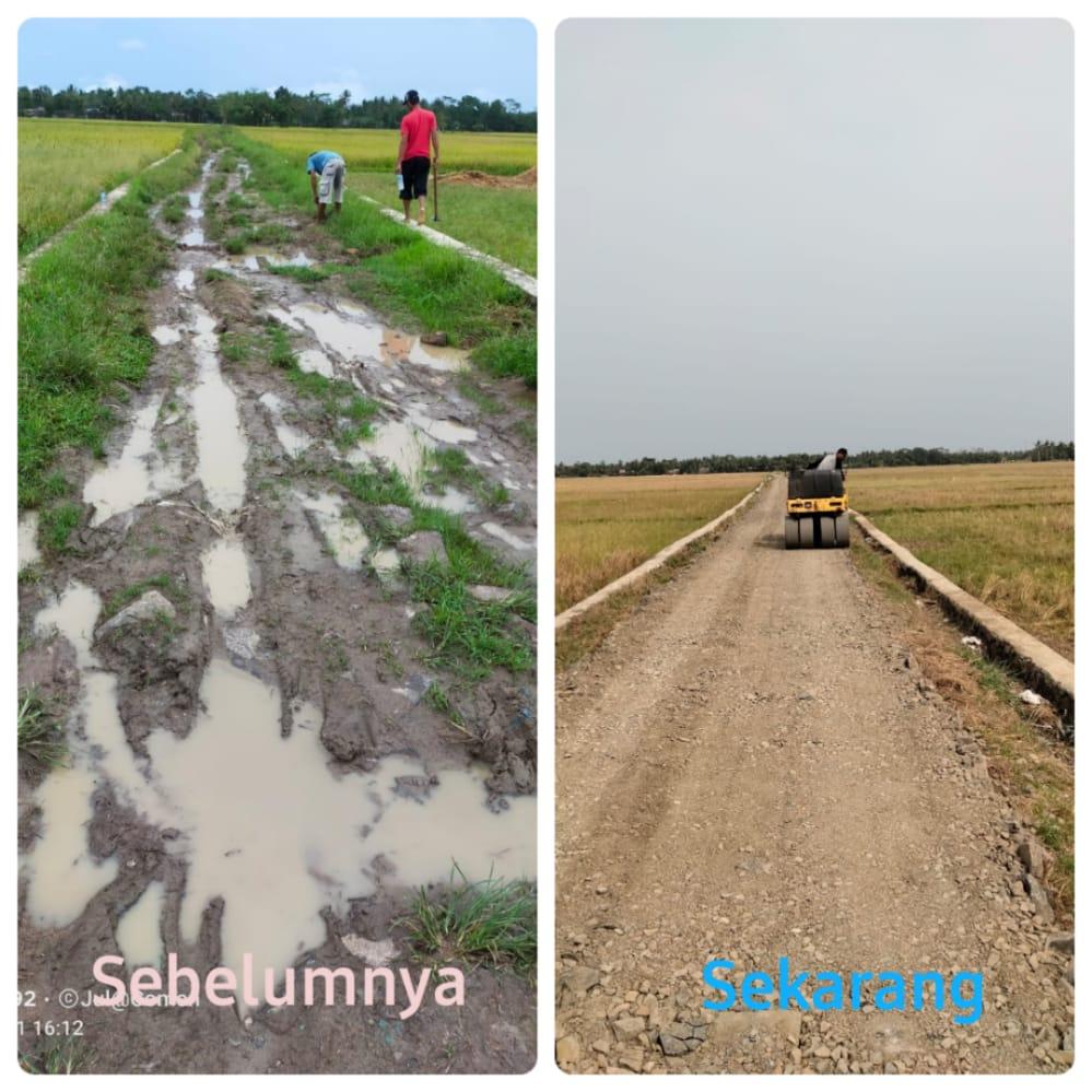 Gambar Jalan Rusak Di Desa Rahayu Sudah Bagus, Tokmas: Terimakasih Pak Kades 5