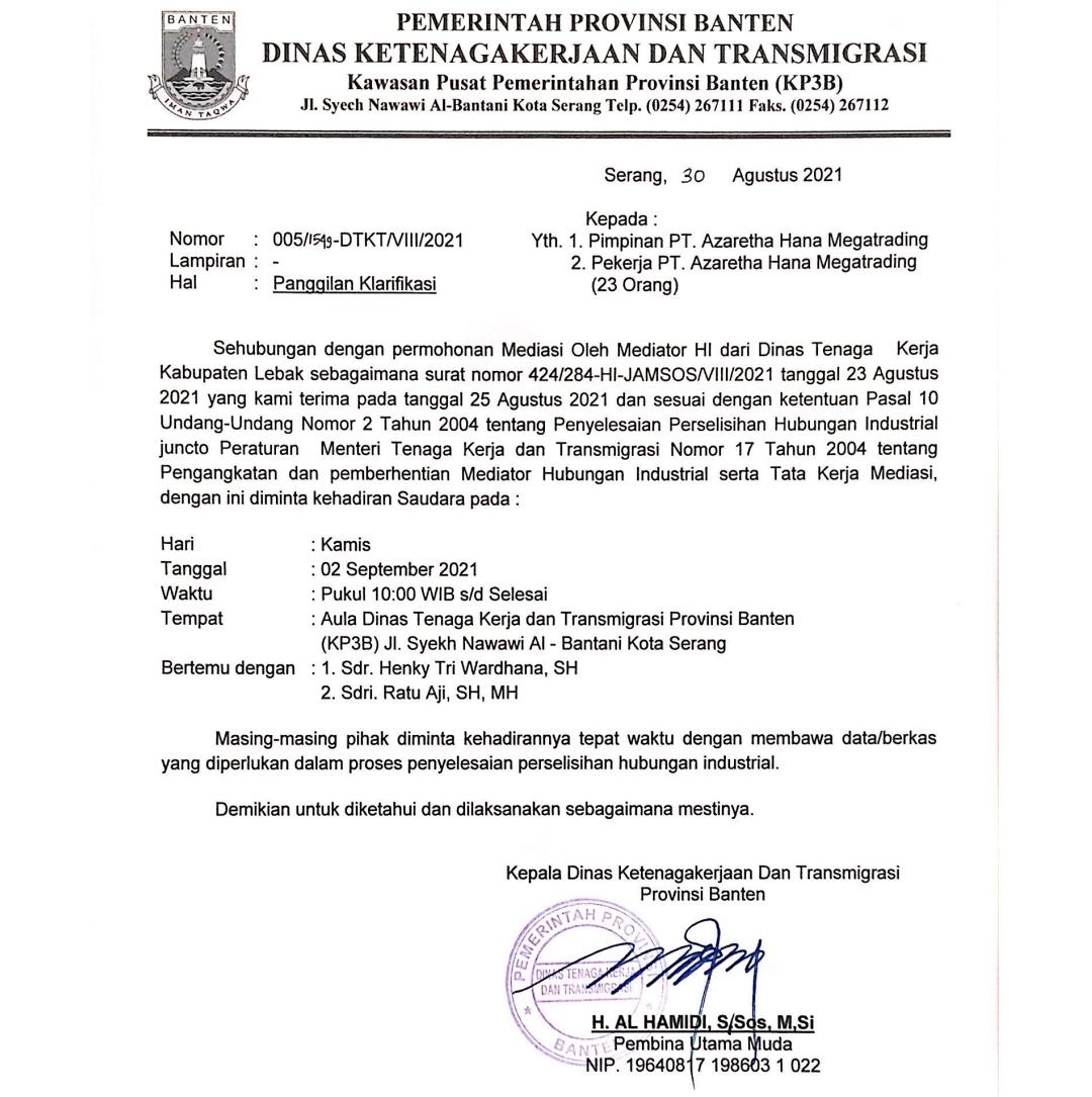Gambar Akhirnya, Sengketa PT AHM dan 23 RSUD Malingping Masuk Babakan Mediasi Oleh Mediator HI Disnakertrans Banten 11
