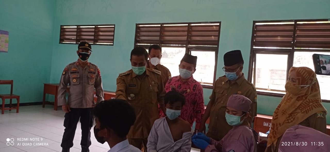 Gambar Polsek Walantaka Polres Serang Kota Gelar Pengamanan Vaksinasi Covid-19 Pelajar 17