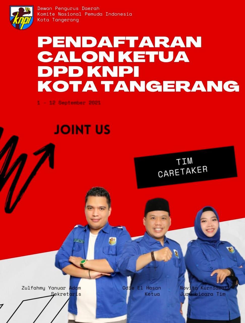 Gambar Pendaftaran Calon Ketua DPD KNPI Kota Tangerang Dibuka Mulai Hari Ini 15