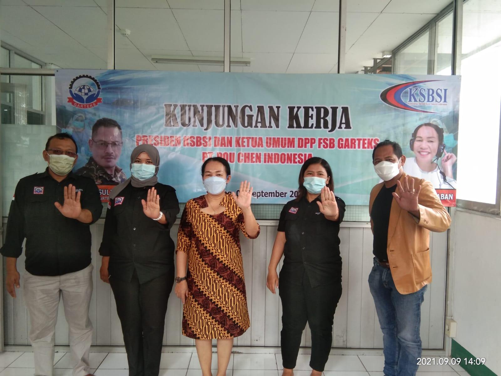 Gambar Konsolidasi Anggota di Tingkat PK, Den KSBSI dan Ketum Garteks Berkunjung di PK Garteks PT. Pou Chen Indonesia 1