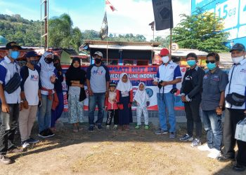 Gambar Rangkaian HUT MOI yang ke 3 Tahun, MOI DPC Kota Cilegon Gelar Santunan dan Bagi-bagi Masker 1