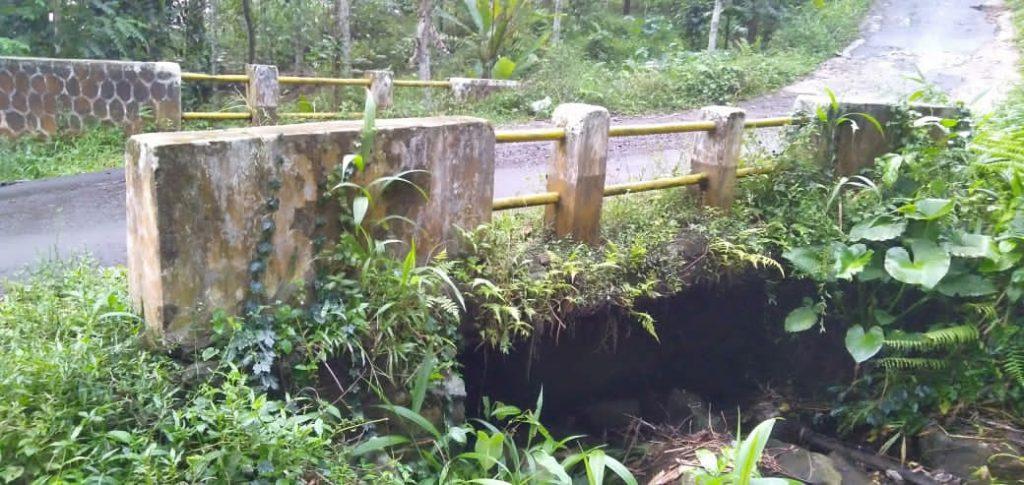 Gambar Kondisi Jambatan penghubung Dua Desa Di Kecamatan Pulosari Kondisinya sangat Memperhatinkan 1