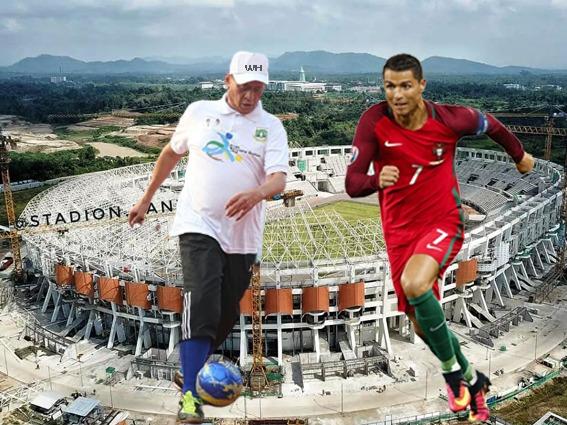 Gambar Gubernur WH Inginkan C.Ronaldo Main Bola Di Stadion Banten Pake Dana Sponsor 1