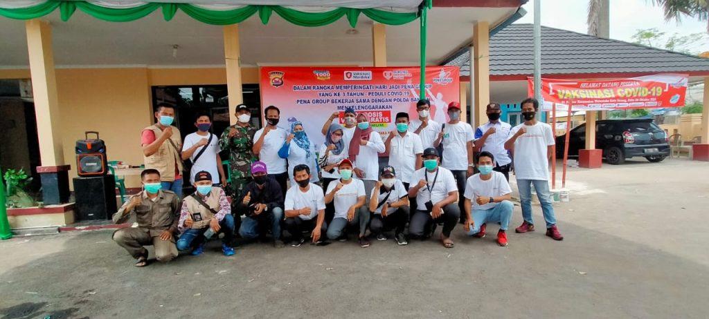 Gambar Biddokes Polda Banten Kembali Menggelar 1000 Dosis Vaksin Bersama Pena Grup 1