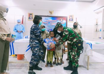 Gambar Khitan Massal Dalam Rangka Peringatan Hari Kesehatan TNI AL Tahun 2021 di Lanal Banten 7