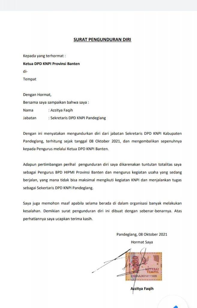 Gambar Fokus di BPD HIPMI Prov. Banten, Sekretaris DPD KNPI Pandeglang Resmi Mengundurkan Diri 3