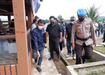 Gambar Polres Serang Kota Polda Banten Gelar Pengamanan dan Pengawasan Prokes Kunjungan Menteri BUMN RI 37