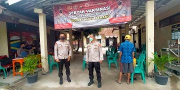 Gambar Vaksinasis Presisi, Kabagops Polres Serang Kota Polda Banten Monitoring dan Himbau Prokes 3