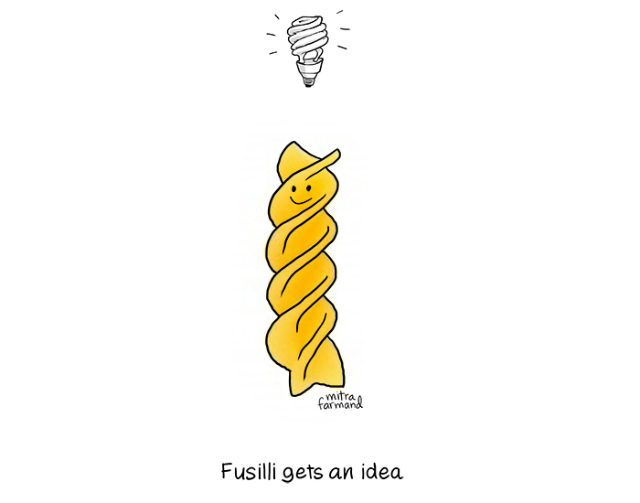 Fusilli has an idea, Mitra Farmand, Fuffernutter