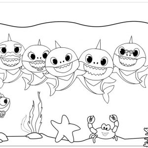 10 Fancy Baby Shark Coloring Pages With Scenes For Little Ones Mitraland