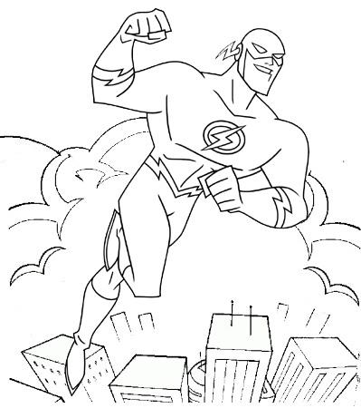Flash Superhero Coloring Page Mitraland