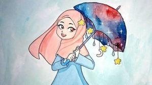 4 Ide Fashion Hijab Ketika Cuaca Banyak Hujan