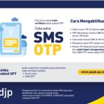 Fitur OTP lewat SMS yang memudahkan wajib pajak