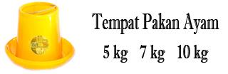 Jual Tempat pakan ayam 6 kg