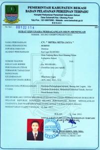 About Us Profile Mitra Setia Group - Dokumen Legalitas CV Mitra Setia Jaya Cikarang - SIUP