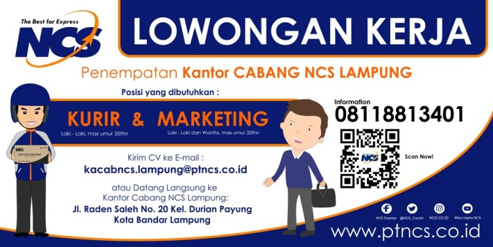 loker kurir dan marketing - LMPUNG 2x1meter