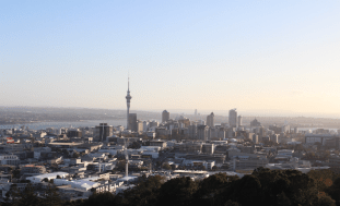 Auckland city from the Mount Eden summit