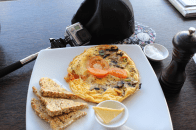 Breakfast at the Viaduct Harbour